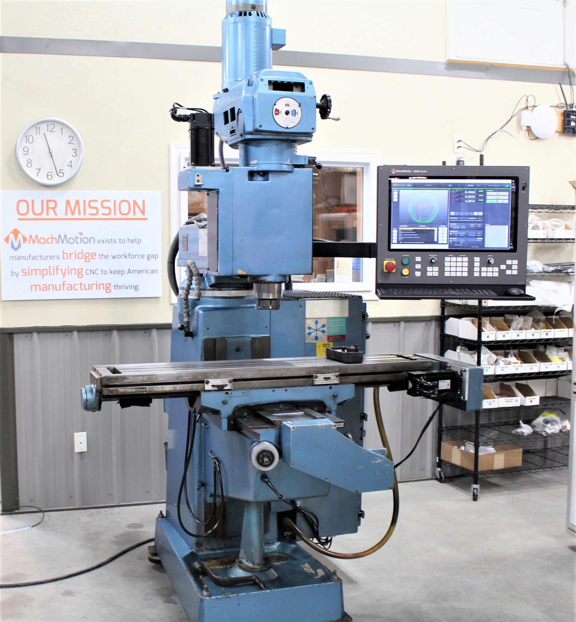 LAGUN KNEE MILL W/ 5HP SPINDLE