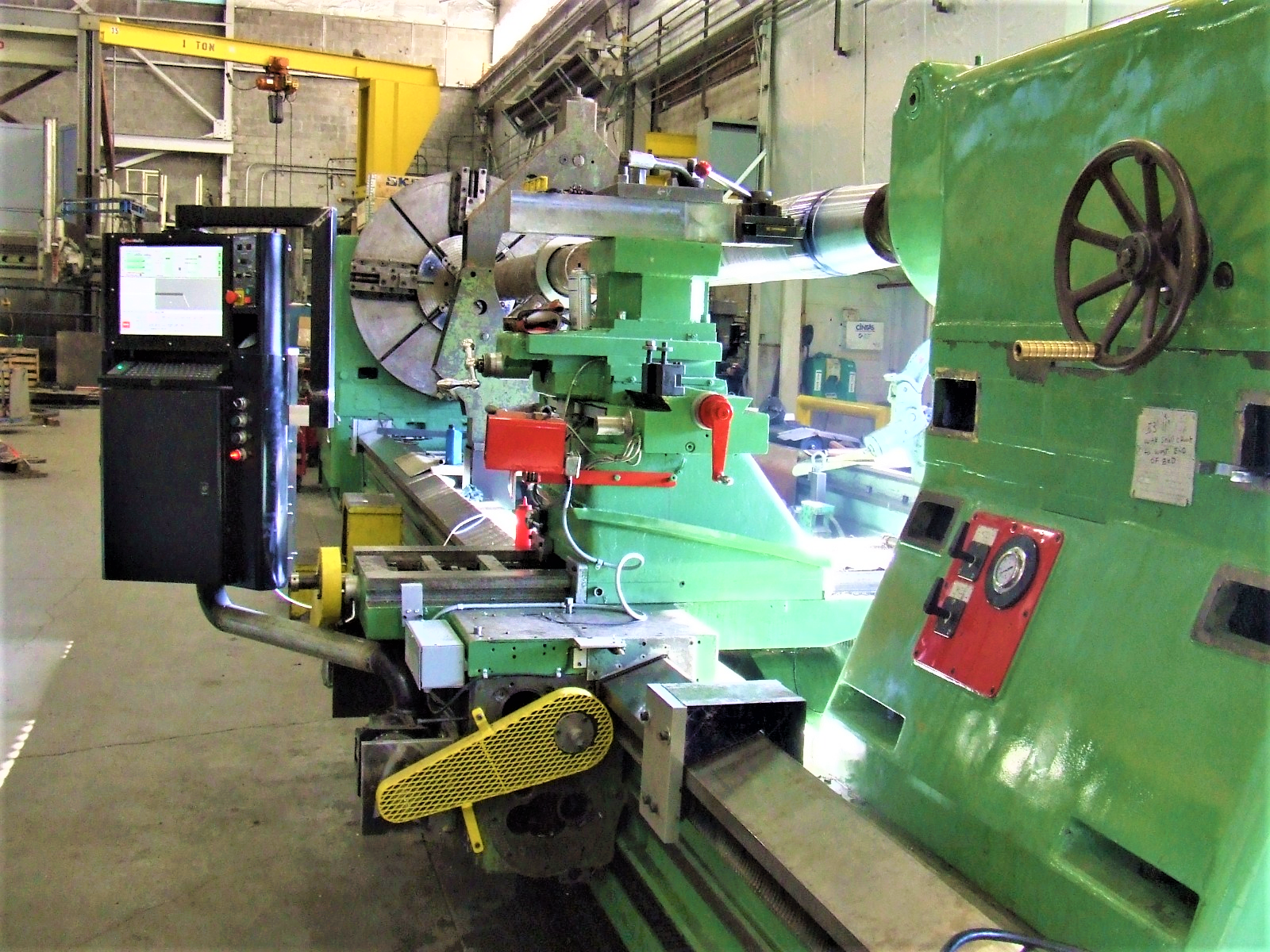 Heyligenstaedt Large Flat bed Lathe CNC Upgrade