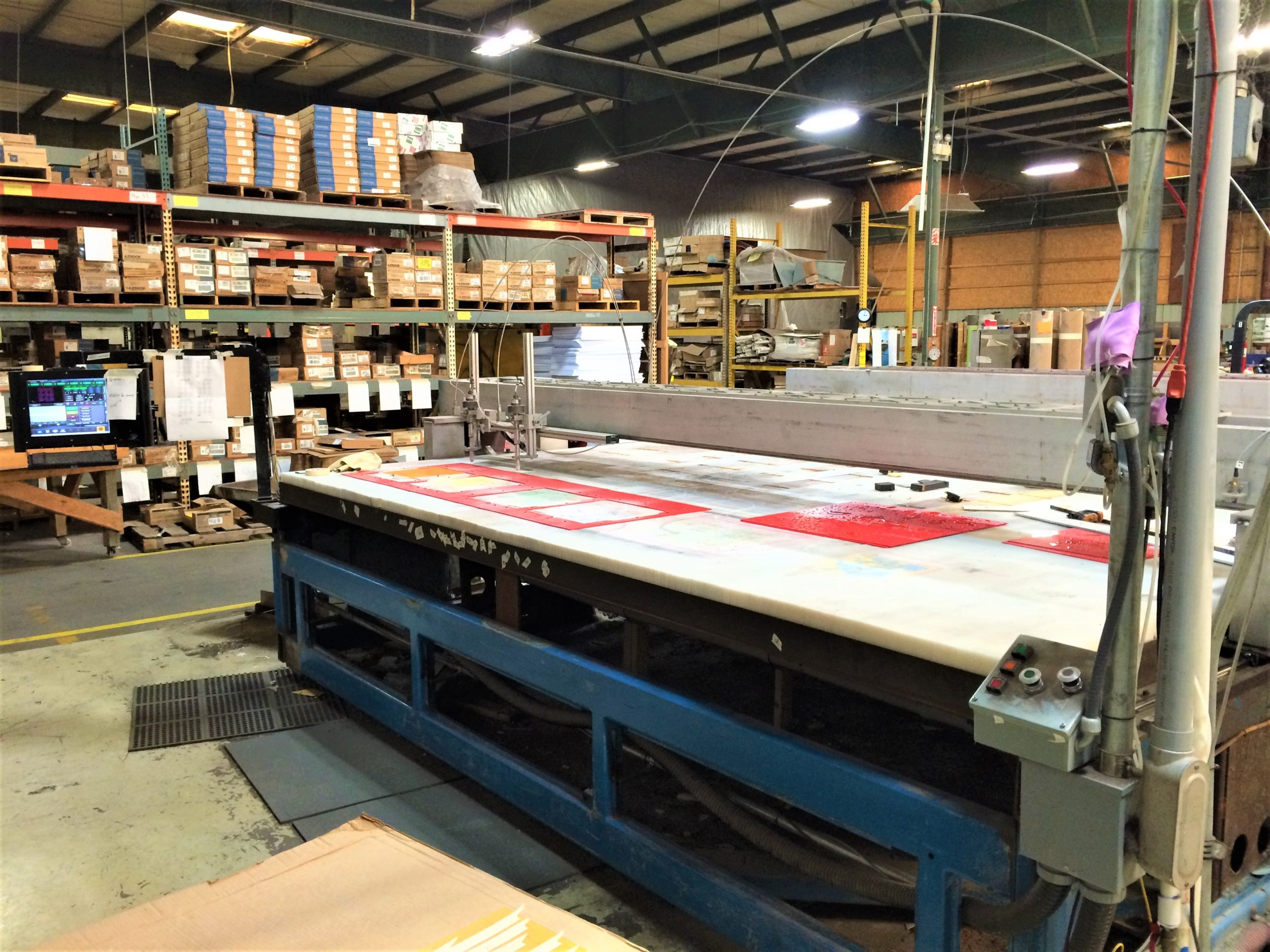LARGE CNC GANTRY WATERJET CONTROL RETROFIT