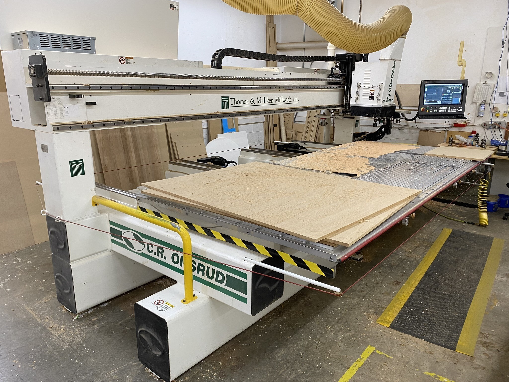 C.R. Onsrud 146C16C CNC Router MachMotion Upgrade Finished
